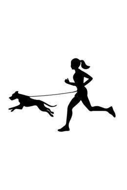 Futó nő kutyával