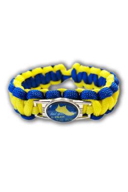 Sárga kék karkötő