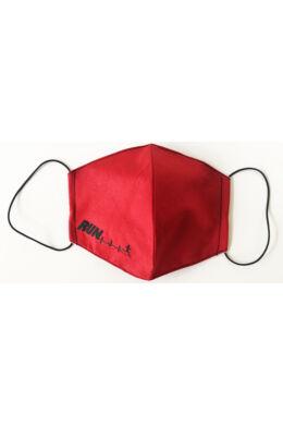 Maszk női - run felirattal - piros
