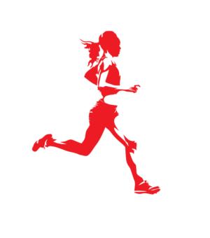 Női futó piros