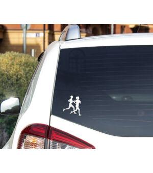 Autómatrica futóknak fehér autón