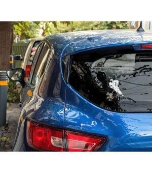 Autómatrica jégkorongos kék autó