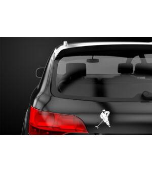 Autómatrica jégkorongos fekete autón