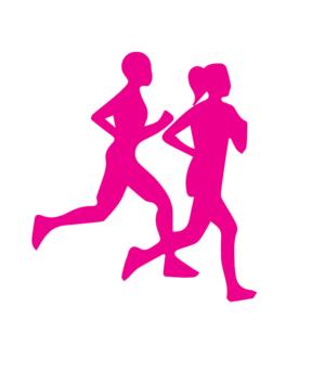 Páros futó pink