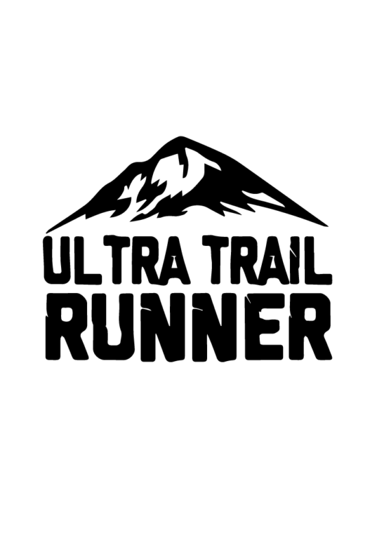 Ultra trail futás matrica