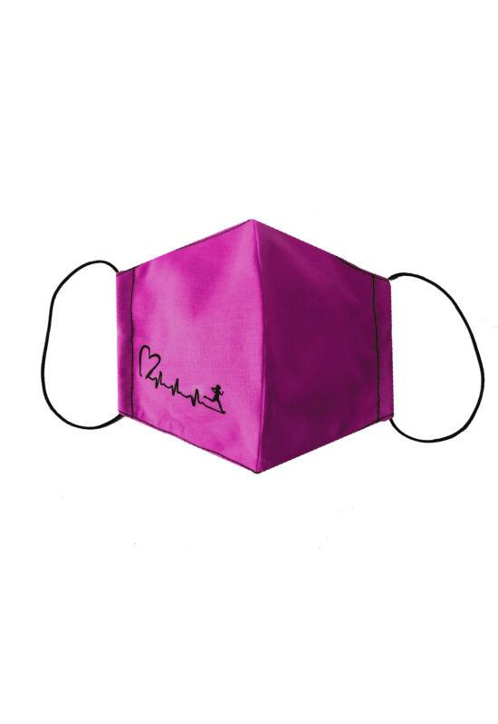 Maszk pink futós mintával
